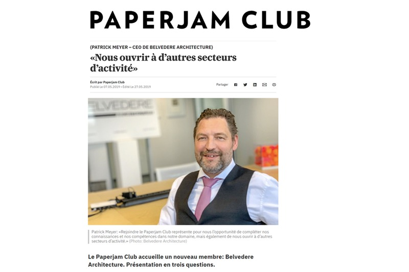 Belvedere Architecture joins the Paperjam Business Club.